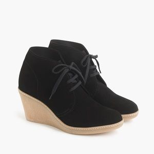 J. Crew MacAlister Black Wedge Ankle Bootie 7